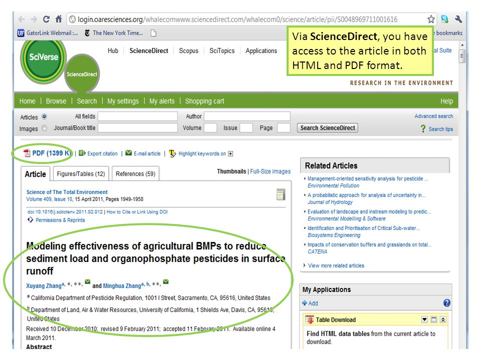 Via ScienceDirect, you have access to the article in both HTML and PDF format.