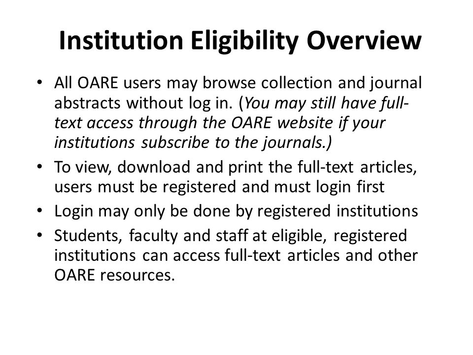 This is a sample email – to send to oare@oaresciences.org
