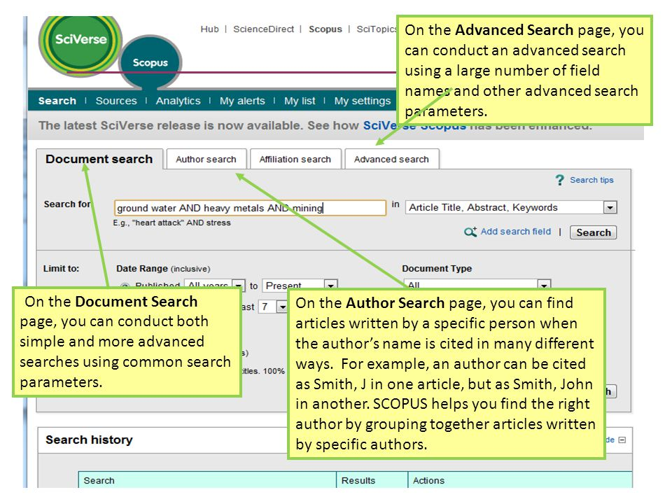 On the Document Search page, you can conduct both simple and more advanced searches using common search parameters.