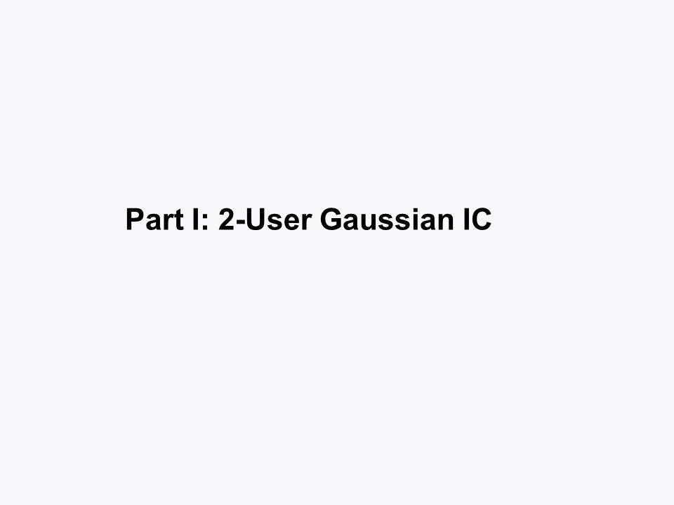 Part I: 2-User Gaussian IC