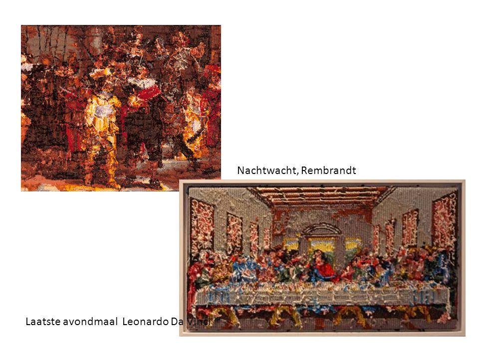 Nachtwacht, Rembrandt Laatste avondmaal Leonardo Da Vinci