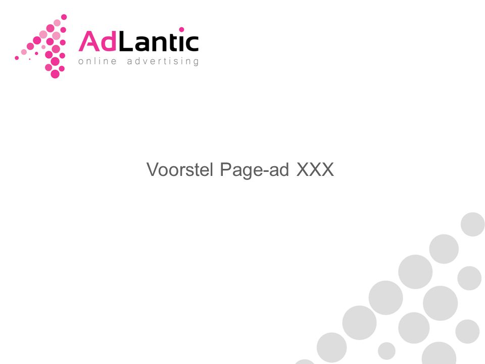 Voorstel Page-ad XXX