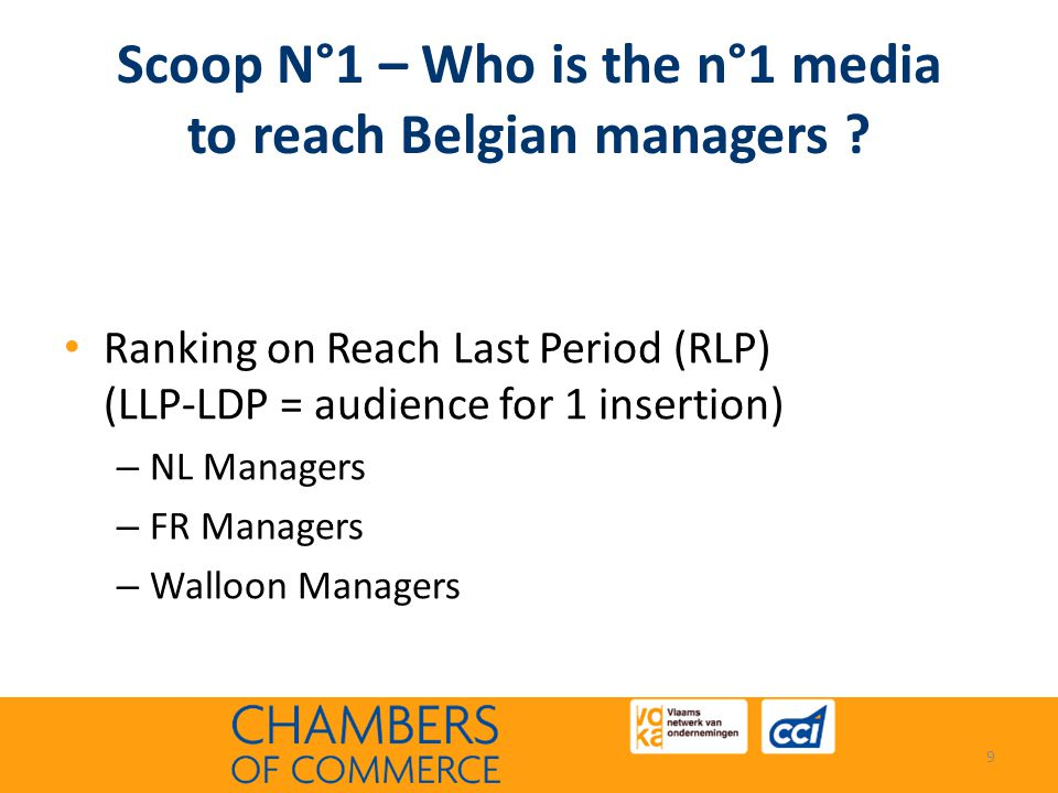 Scoop N°1 – Who is the n°1 media to reach Belgian managers .