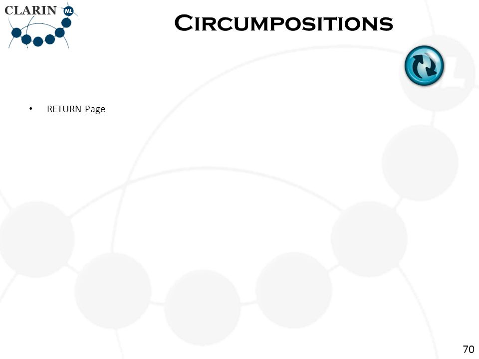 • RETURN Page Circumpositions 70