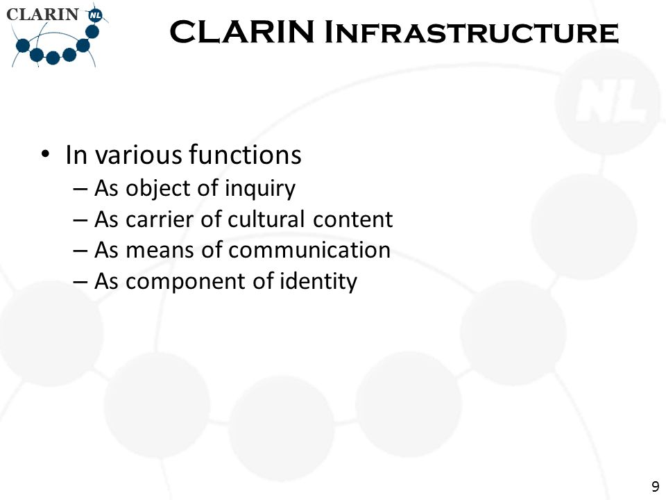 • Brief overview of CLARIN • Illustration of one tool: GrETEL  Conclusions Contents 40