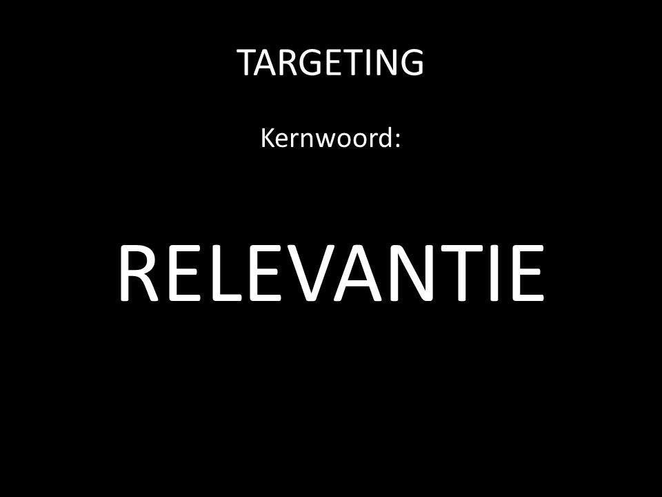 TARGETING Kernwoord: RELEVANTIE