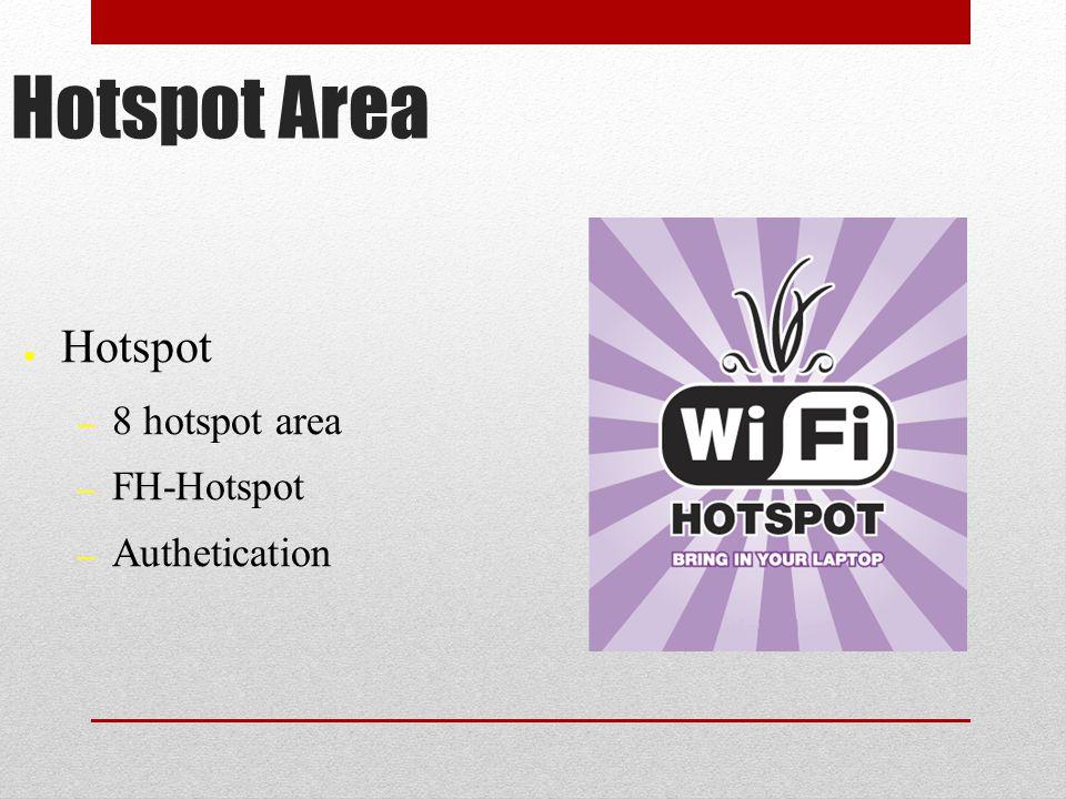 Hotspot Area ● Hotspot – 8 hotspot area – FH-Hotspot – Authetication
