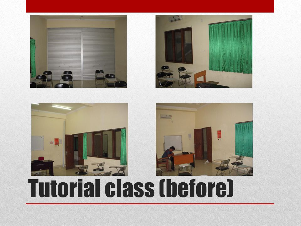 Tutorial class (before)
