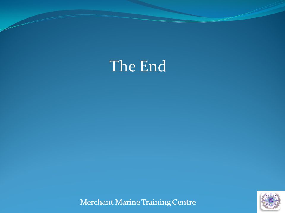 The End Merchant Marine Training Centre