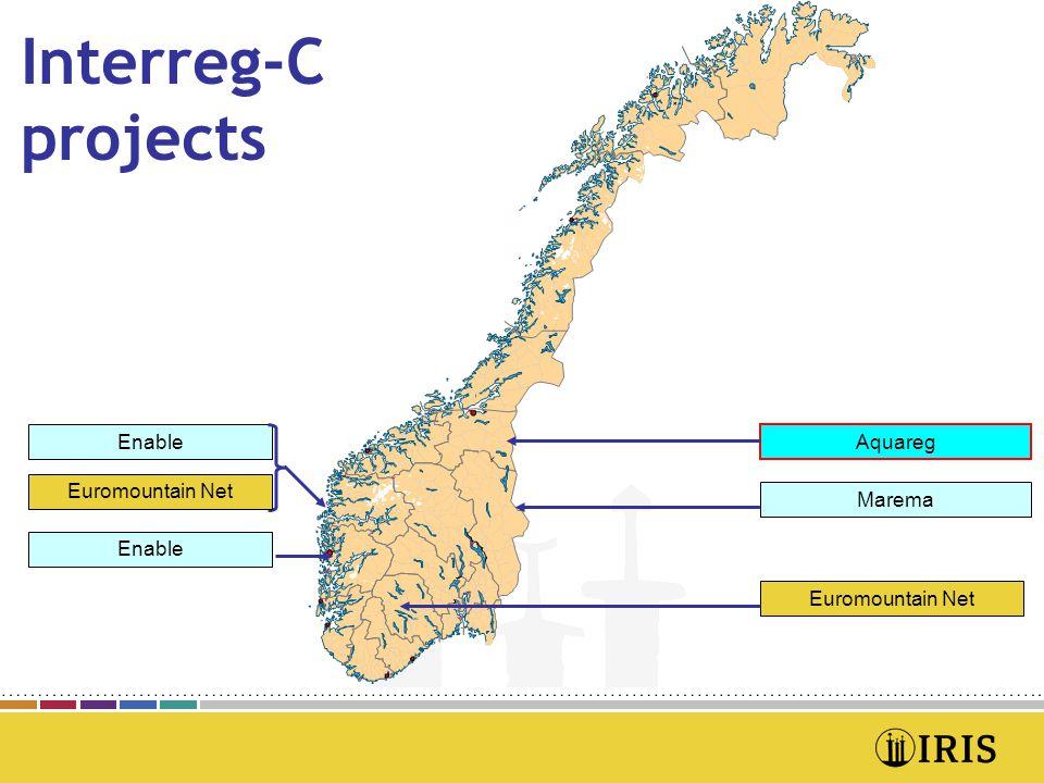 Interreg-C projects Enable Aquareg Enable Marema Euromountain Net