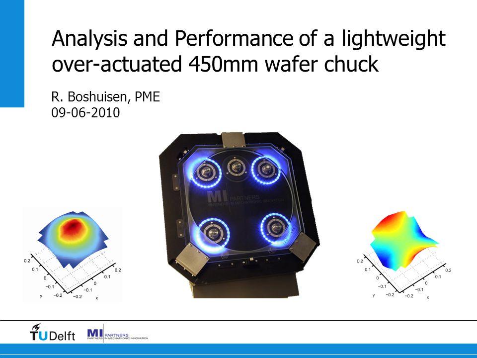 12 Titel van de presentatie Modal analysis Over-actuation of a wafer chuck Optimization result I