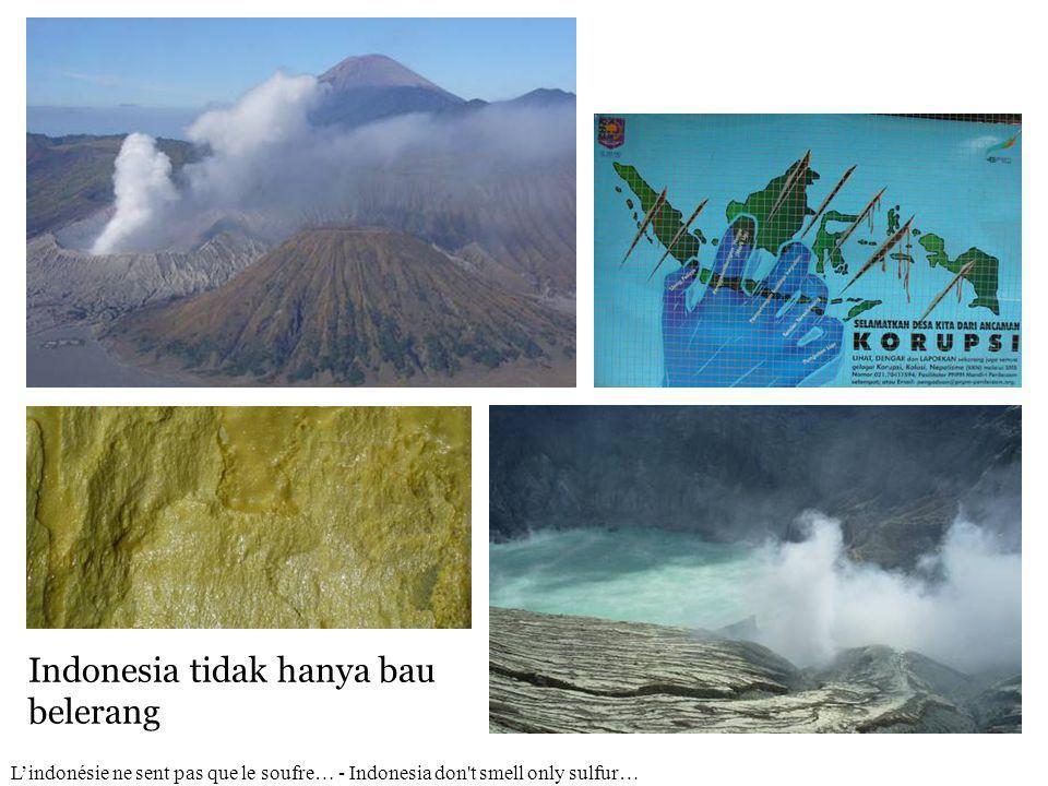 Indonesia tidak hanya bau belerang L'indonésie ne sent pas que le soufre… - Indonesia don t smell only sulfur…