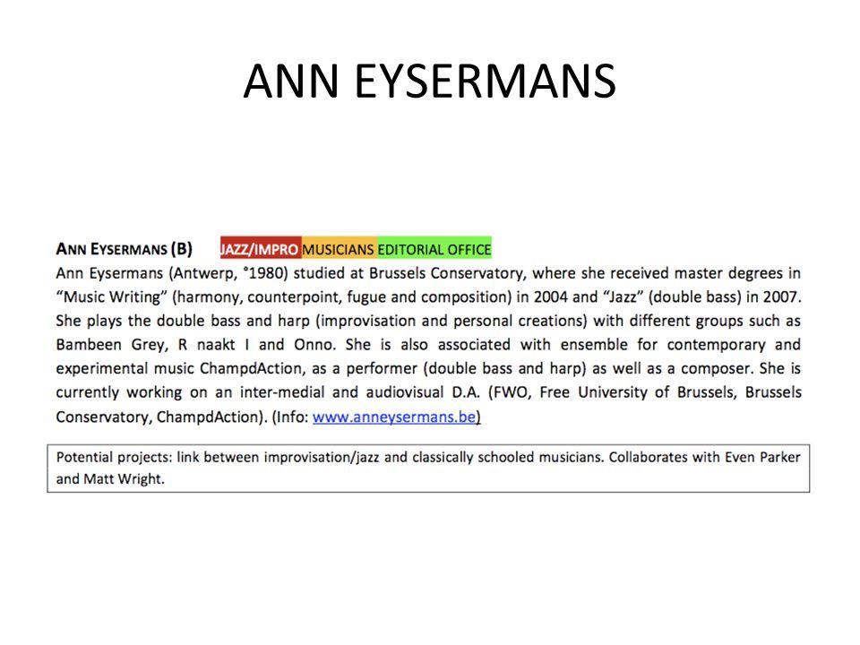 ANN EYSERMANS