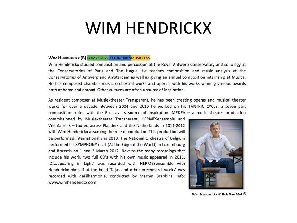 WIM HENDRICKX