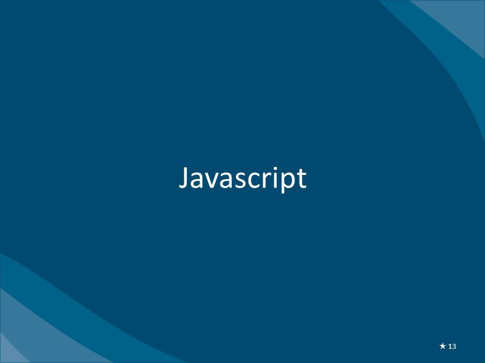 Javascript ★ 13