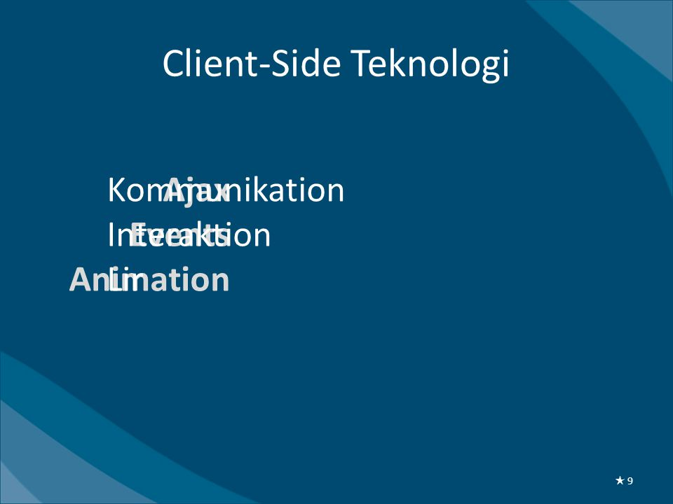 Client-Side Teknologi Ajax Events Animation Kommunikation Interaktion Lir ★ 9