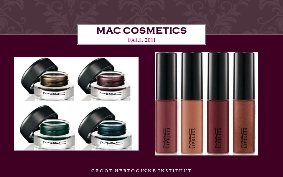 GROOT HERTOGINNE INSTITUUT MAC COSMETICS FALL 2011