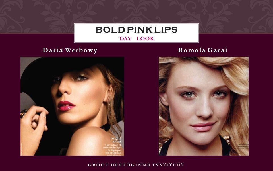 Daria Werbowy Romola Garai BOLD PINK LIPS DAY LOOK GROOT HERTOGINNE INSTITUUT