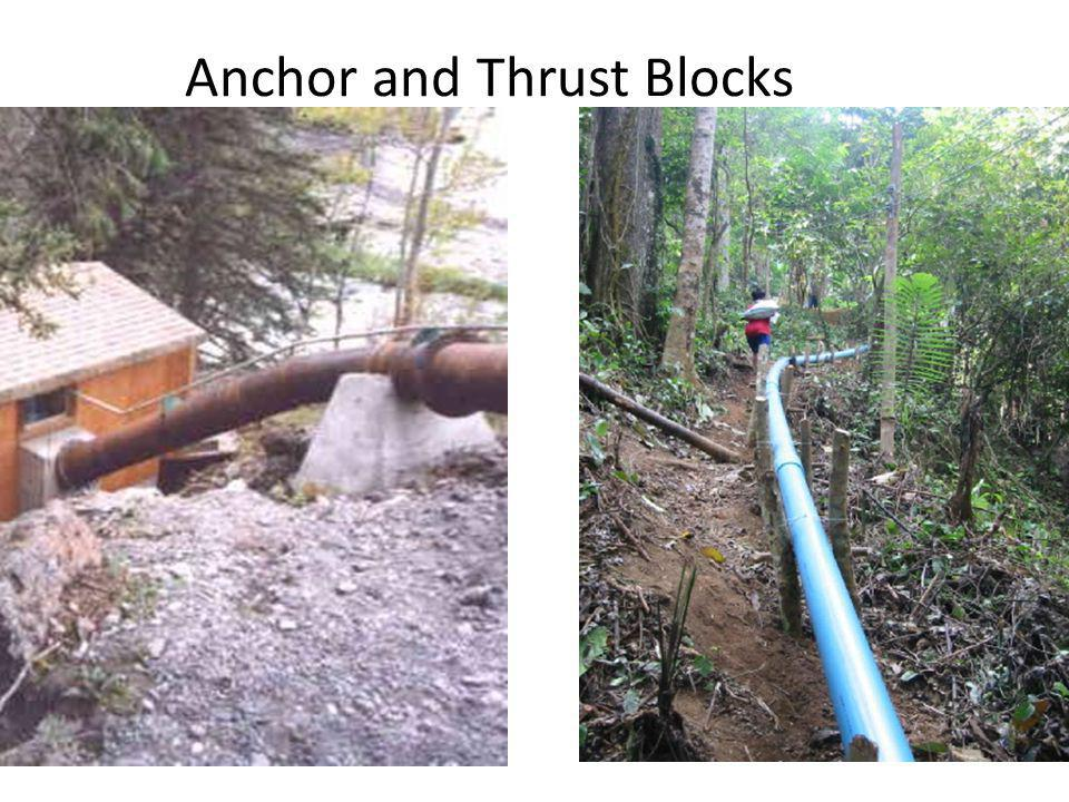 Anchor and Thrust Blocks