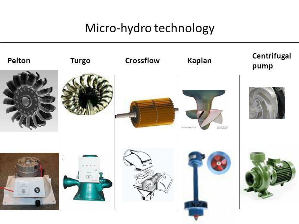 Micro-hydro technology PeltonTurgoCrossflowKaplan Centrifugal pump
