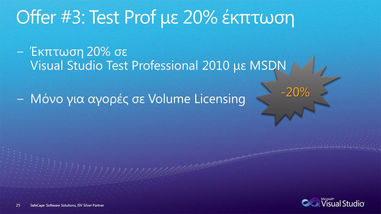-20% SafeCape Software Solutions, ISV Silver Partner25