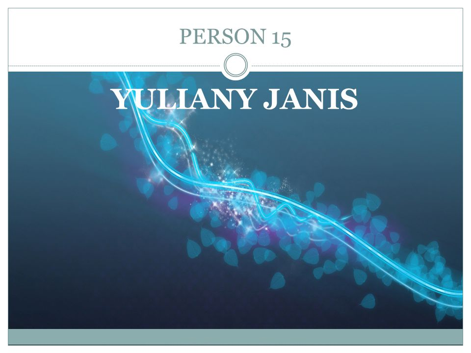 PERSON 15 YULIANY JANIS