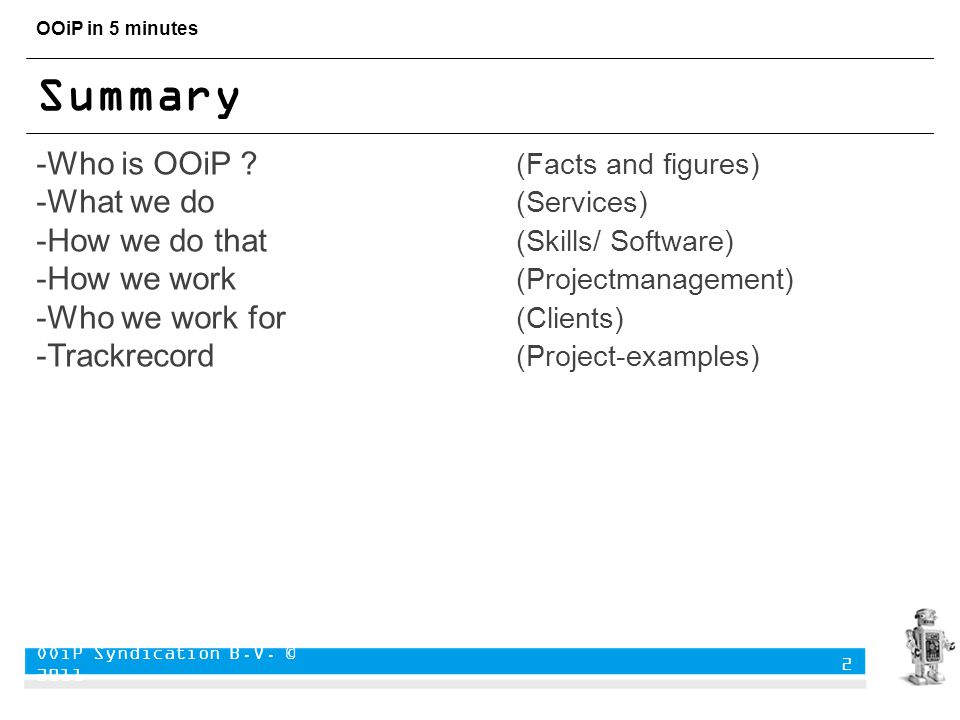 OOiP in 5 minutes Summary -Who is OOiP .