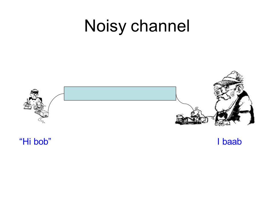 Noisy channel Hi bob I baab