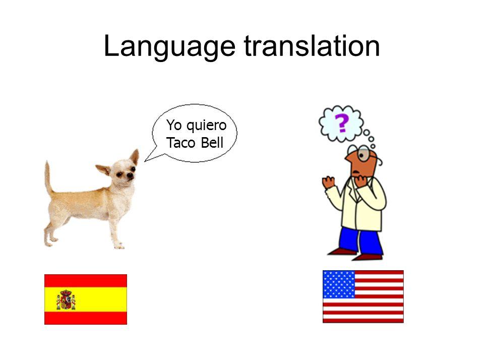 Language translation Yo quiero Taco Bell