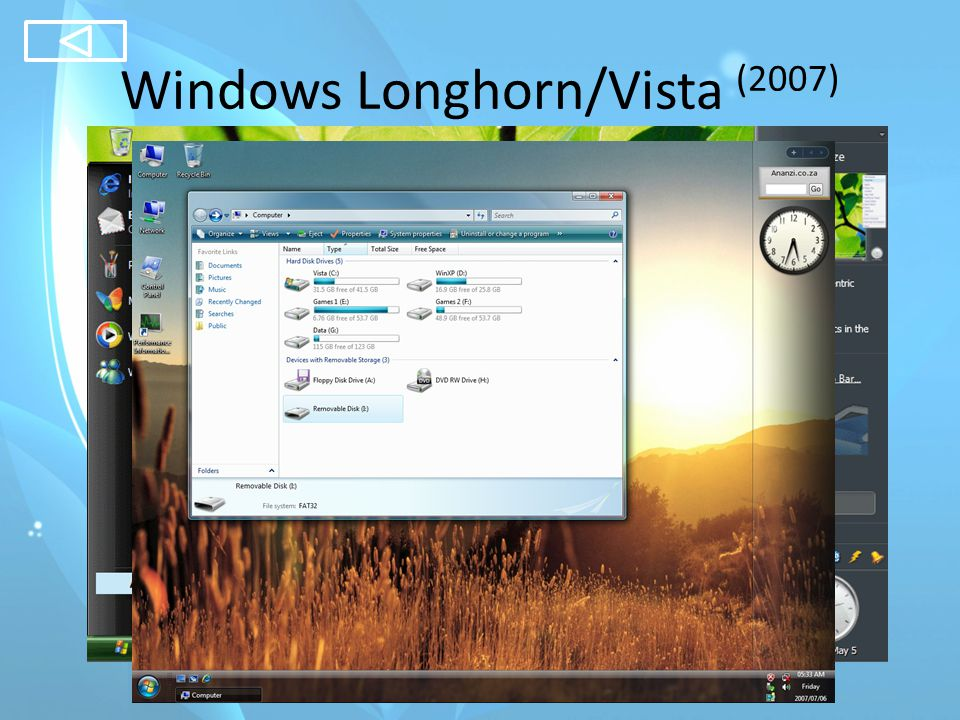 Windows Longhorn/Vista (2007)