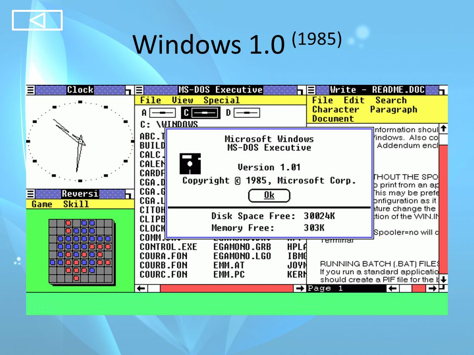 Windows 1.0 (1985)