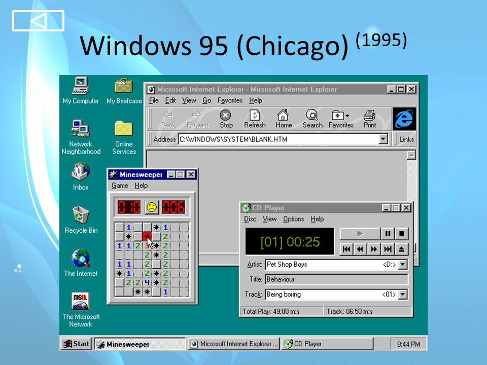 Windows 98 Gold (Memphis) (1998) Windows 98 Second Edition (1999)