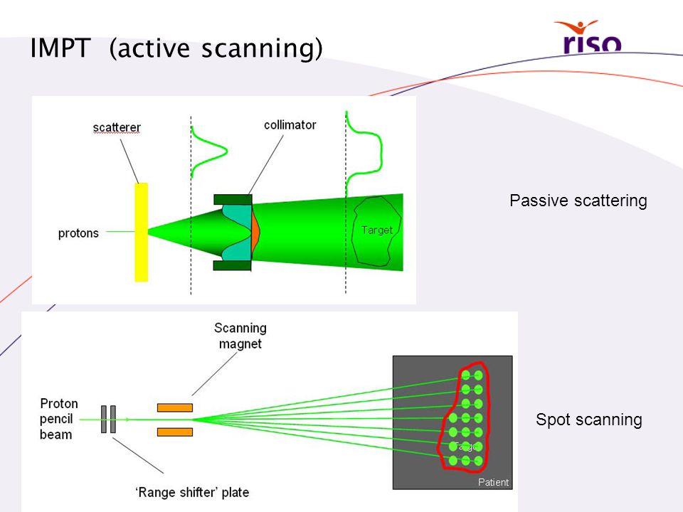IMPT (active scanning) Passive scattering Spot scanning