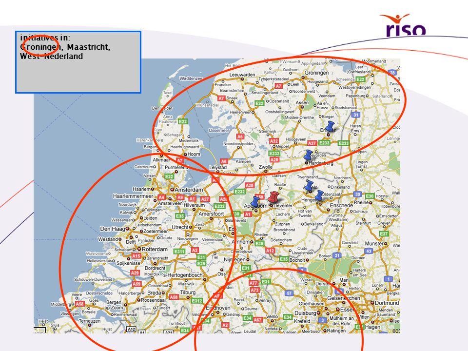initiatives in: Groningen, Maastricht, West-Nederland