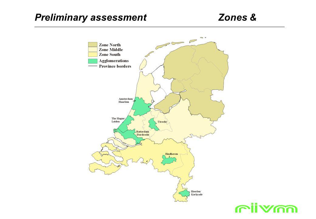 Preliminary assessmentZones &
