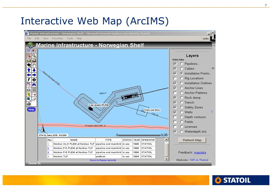 7 Interactive Web Map (ArcIMS)