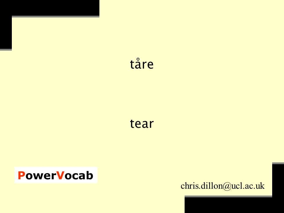PowerVocab chris.dillon@ucl.ac.uk tåre tear