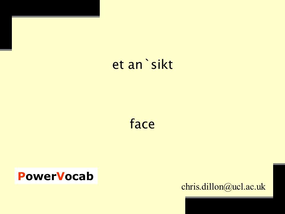 PowerVocab chris.dillon@ucl.ac.uk et an`sikt face