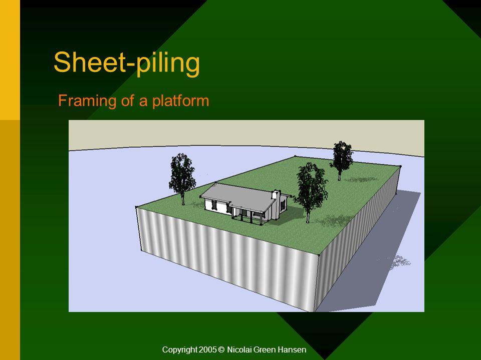 Sheet-piling Copyright 2005 © Nicolai Green Hansen Framing of a platform