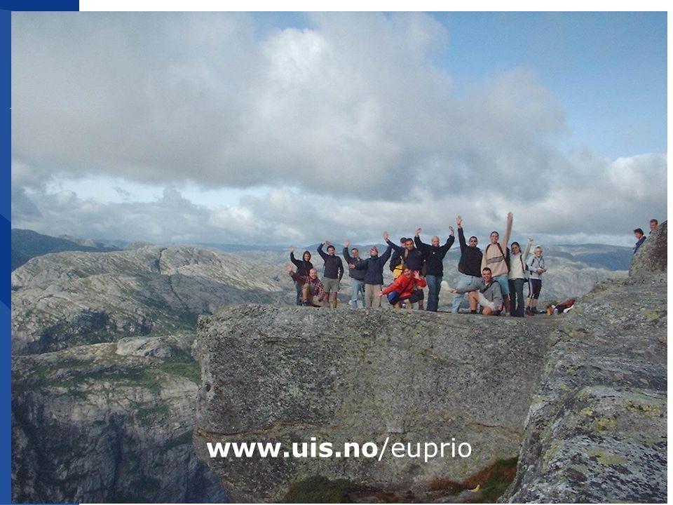 10 www.uis.no/euprio