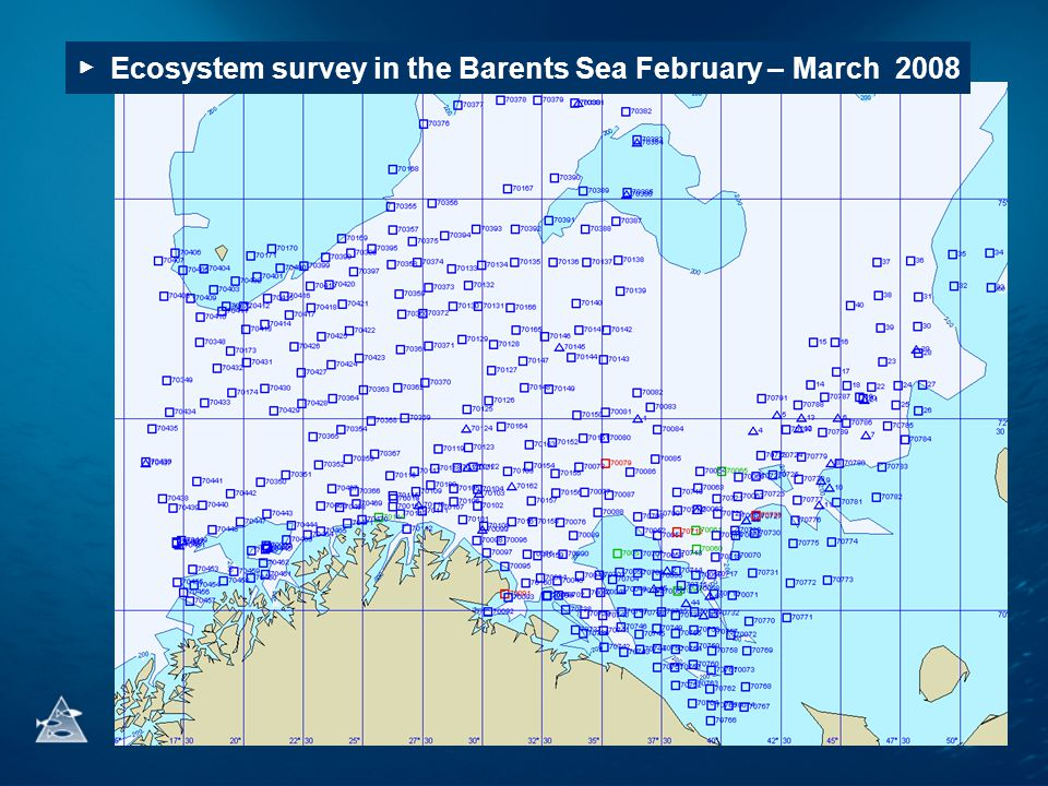 ▶ Ecosystem survey in the Barents Sea February – March 2008