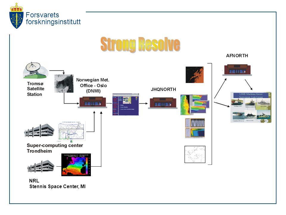 Forsvarets forskningsinstitutt NRL Stennis Space Center, MI
