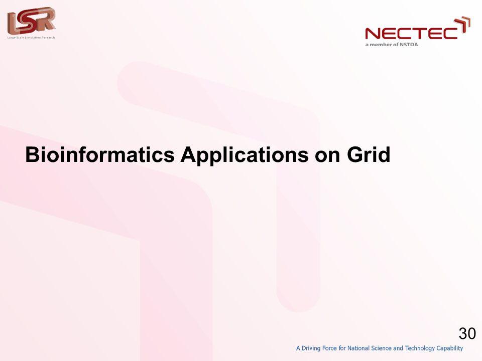 30 Bioinformatics Applications on Grid
