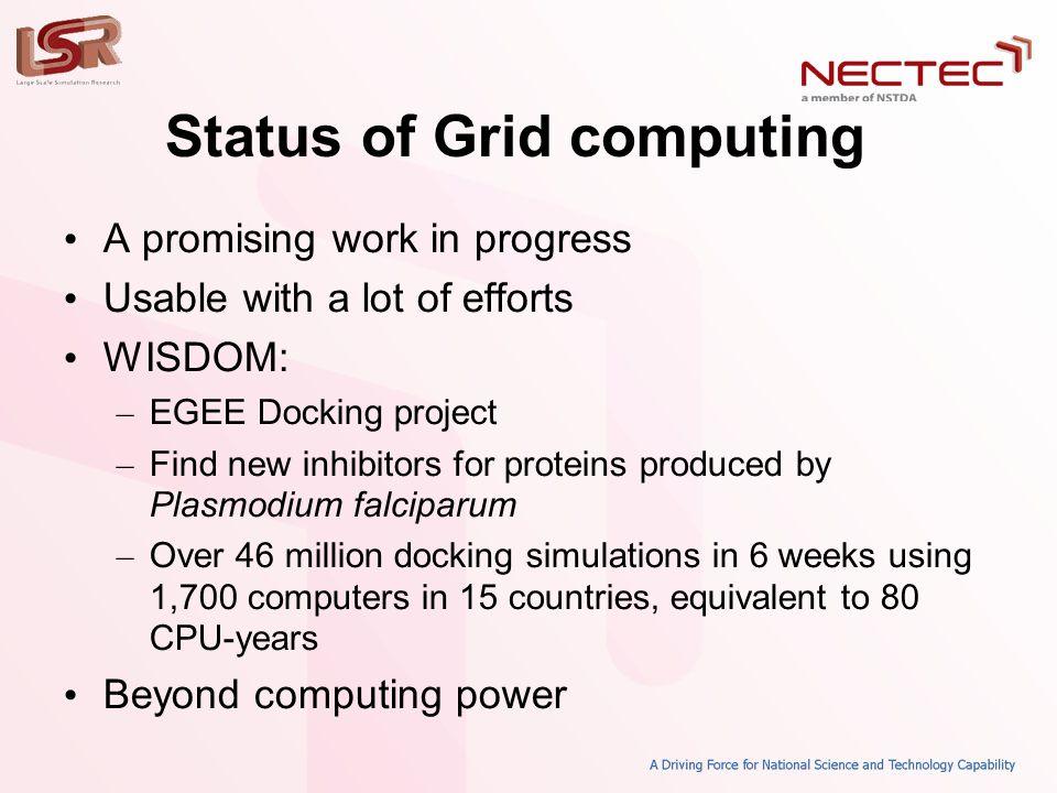 Types of Grids • Computing grid • Data/storage grid • Information grid • Instrument grid • Access grid
