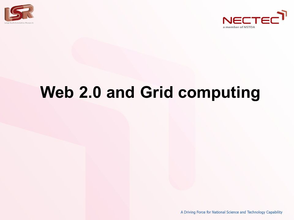 Web 2.0 and Grid computing