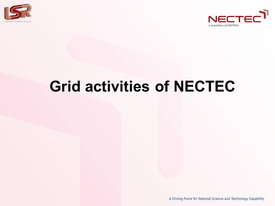 Grid activities of NECTEC