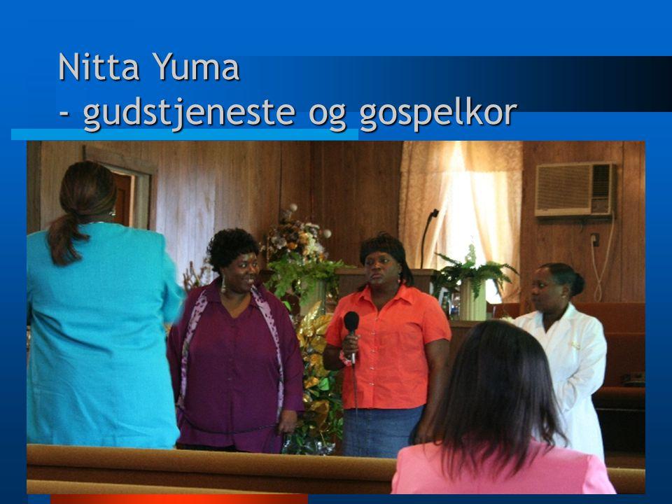 Nitta Yuma - gudstjeneste og gospelkor
