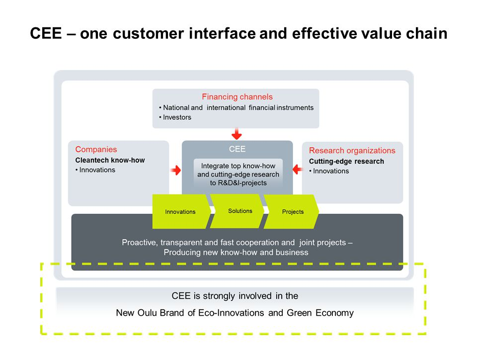 CEE – one customer interface and effective value chain