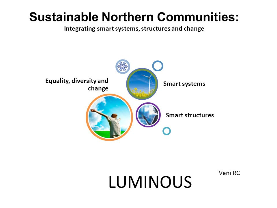 LUMINOUS Sustainable Northern Communities: Integrating smart systems, structures and change Veni RC