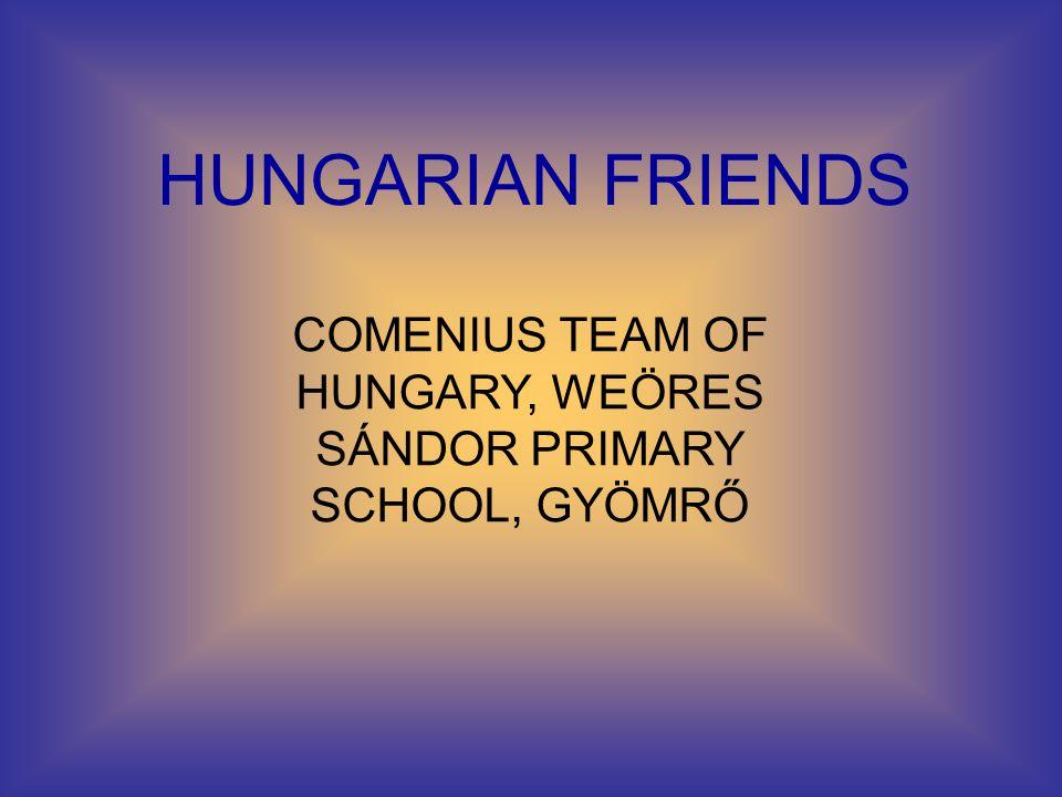 HUNGARIAN FRIENDS COMENIUS TEAM OF HUNGARY, WEÖRES SÁNDOR PRIMARY SCHOOL, GYÖMRŐ